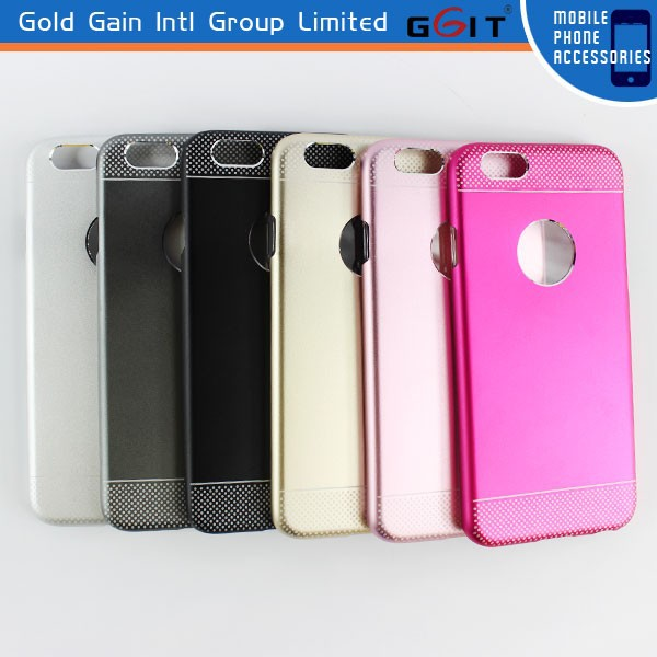 Premium Ultra Thin Hybrid PC+Metal Hard Case for iPhone 6, Aluminum PC Cover for iPhone 6