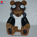 COLLECTION RESIN FANCY BEAR WITH MULTI COLOR FIGURINE