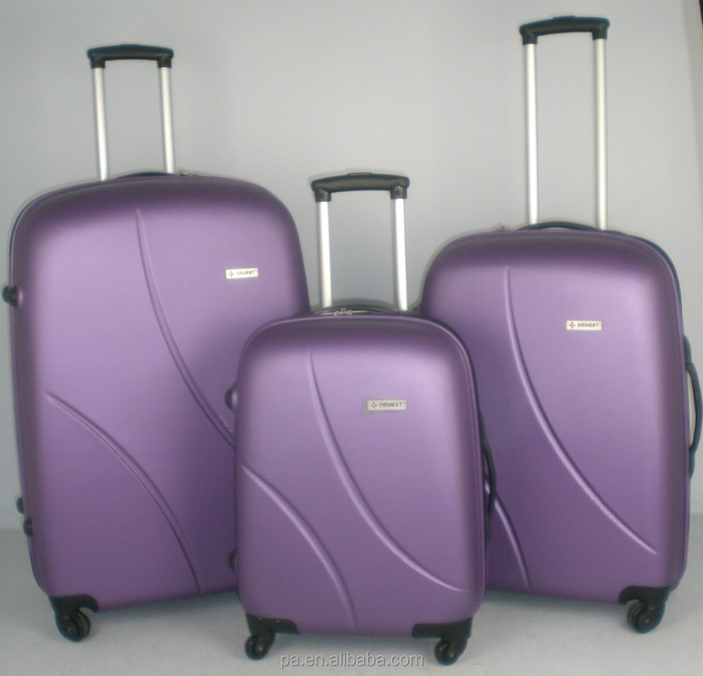 ABS PC luggage carry on suitcase purple suitcase luggage