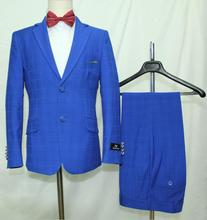 Wedding formal Blue made to measure suits for boys