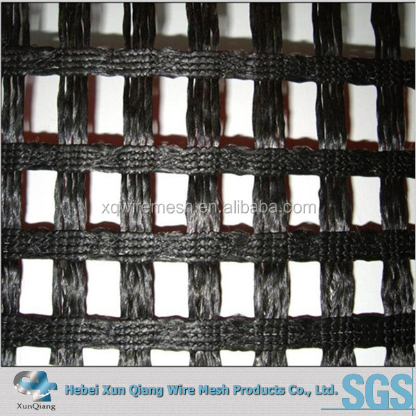 Uniaxial Steel - Plastic Geogrid 50KN/m grid size 120mm