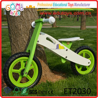 Stock Popular Four Color Wooden Balancing Bike for baby