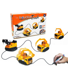New Products Children Creative Electric Induction Draw Line Truck Toy