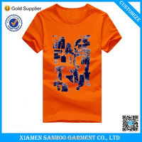 Wholesale Cotton Jersey Preshrunk Printed T Shirts For Company Staff