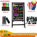 2016 Hot sale A stand LED writing board with CE&ROHS&FCC certification best for advertising