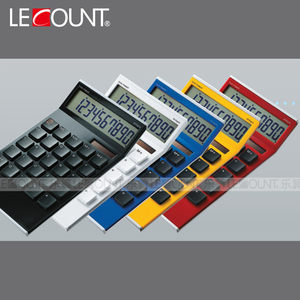 10 Digits Simple Design Novelty Tilted Screen Electronic Desktop Calculator with Computer Key