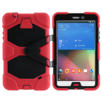 Guangzhou manufacturer back stand PC case cover for Samsung Galaxy T330/Tab4 Silicone waterproof case