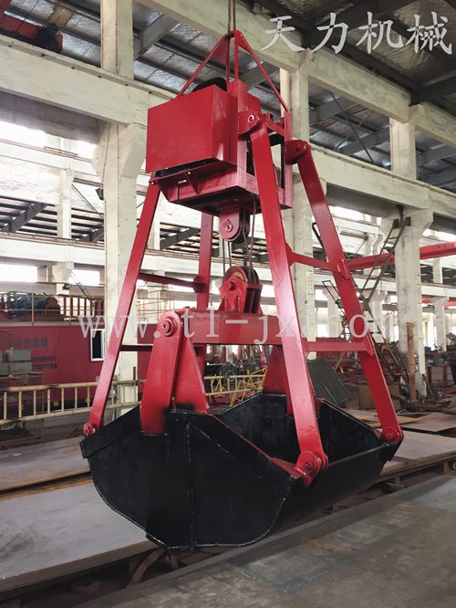crane rope grab grain bucket clamshell