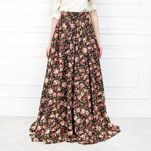 2016 For Sale Wolesale Fancy Skirt Top Designs Flower Maxi Long Skirt