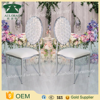 New 2017 wholesale event furniture iron dining chair