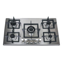 OEM/ODM Heavy Cast iron support stainless steel 5 burner gas stove/gas cooker/gas hob