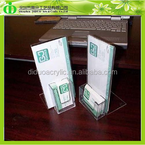 DDM-0045 ISO9001 Chinese Factory Made Restaurant Menu Card Holder With Business Cards Case