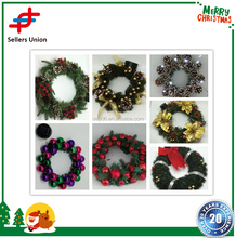 Customized led lighted christmas wreaths with lights and christmas ball