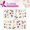 2016wholesale nail stickers for girls,nail sticker from japan,water decals nail art decoration