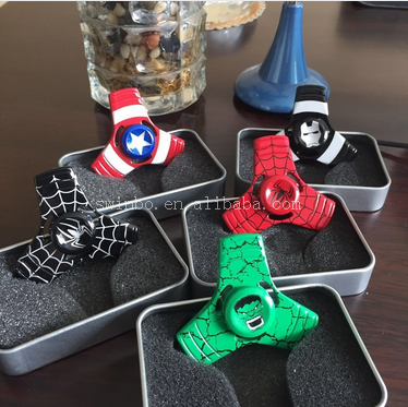 Hot Toy Superhero batman hand spinner EDC adult toy finger anti stress tri spinner metal toupie beyblade gyroscope