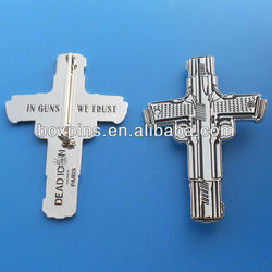 promotional custom design cross pins small metal crosses wholesale