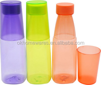 2016 New Design Hot Item Colorful Plastic PC Bottle with Cup