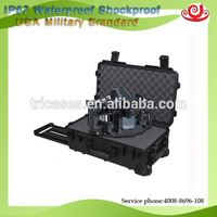Tricases M2500 waterproof shatterproof PP plastic injection molded dry box survival box tool box