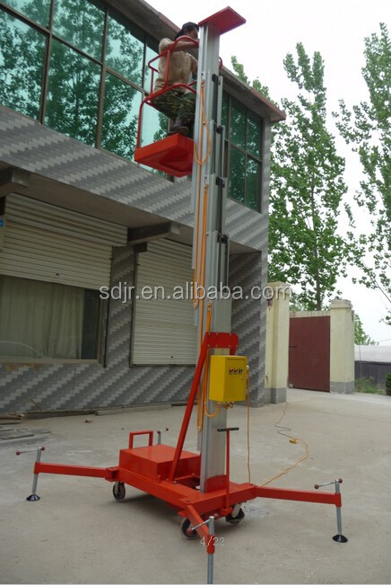 single person for construction aluminum alloy hydraulic lift
