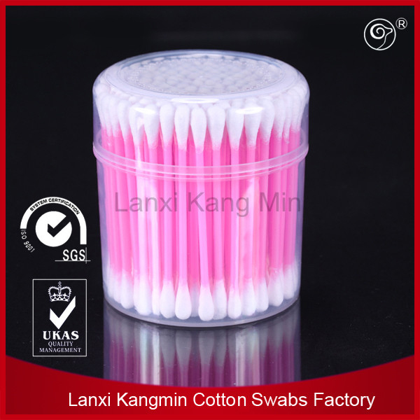 plastic box packing color stick ear cotton swabs hot sale in 2016