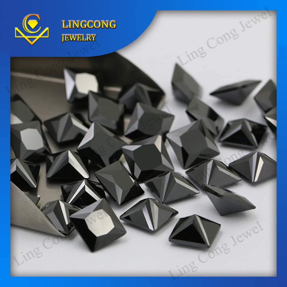 Aaa Quality Princess Cut Names Of Black Precious Stones