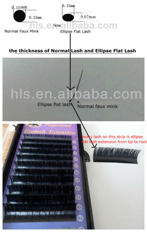 best quality ellipse flat eyelash extensions makeup individual silk lashes wholesale prices cashmere volume lashes