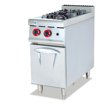 Stainless Steel Commercial cooking equipment 2Burner with Gas Range Cabinet