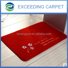 Computer embroidery polyester pvc backing waterproof door mats