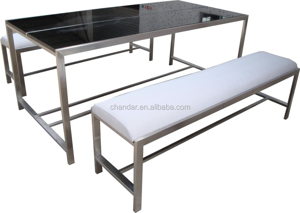 Stainless steel frame granite table and bench buy for Tinning table model