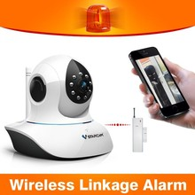 ir cut 720p motion detection talk back security camera system with internet for wireless home alarm system