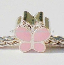 wholesale european enamel bead,butterfly shaped bead