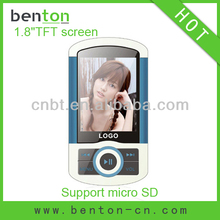 1.8 inch download games for mp4 touch screen with memory card slot (BT-P206)