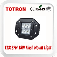 TOTRON Flush Mount LED driving lights T1318FM 18W for Motorcycle,Offroad,ATV,4x4,Jeep,Truck,SUV,Wheelchair,Car