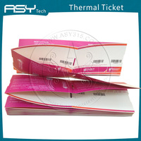 Custom printing paper ticket wholesale , boarding pass template