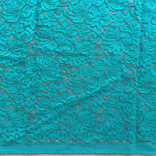 High quality green heavy cord lace fabric wholesale