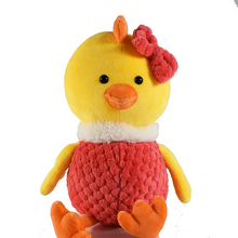 Red Clothes Cute Bowknot Chicken Soft Plush Toys Stuffed Animal For Kids