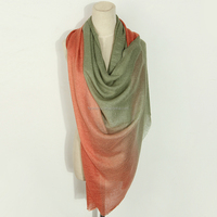 winter solid multi gradient colors polyester long scarf,pashmina shawl wraps women,muslim hijab scarf