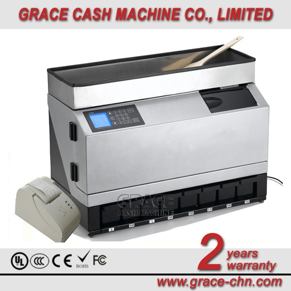 Professional Coin Counting machine and coin sorter GCS-980 with large LCD display