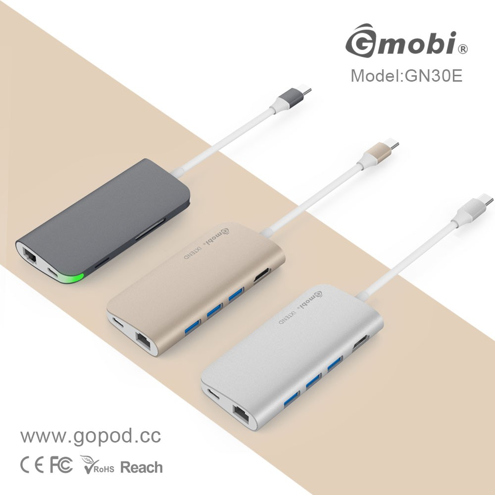 4-in-1 USB-C Hub with Type C, USB 3.0, USB 2.0 Ports for New MacBook 2015/2016 ,ChromeBook Pixel Devices