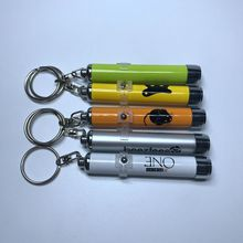 Factory price promotional customized logo LED projector keychain