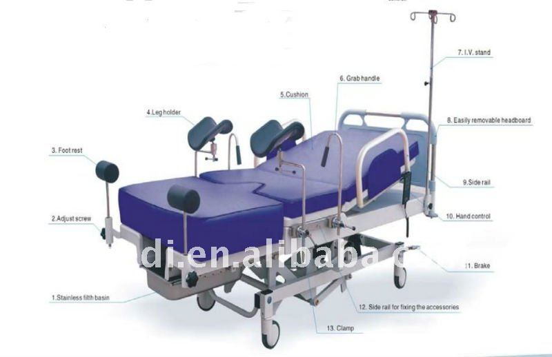 YA-C101A-02 Obstetric Delivery Bed Gynecology Equipment