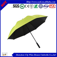 easy open and close umbrella,strong anti uv effect weather proof golf umbrella with black adhesive