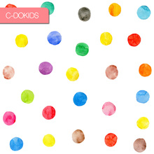colorful circles wall sticker paper room decoration for kids
