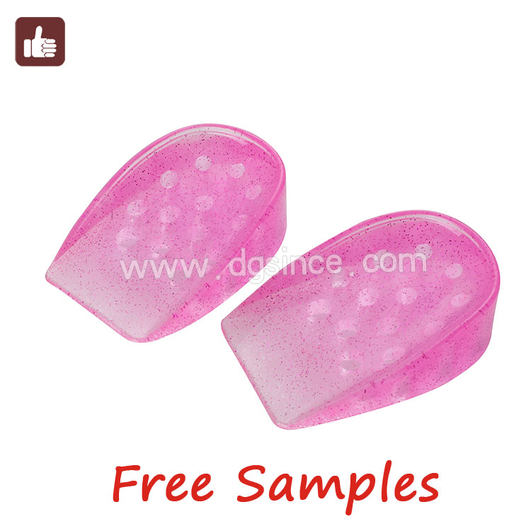China supplier sticky health care silicon gel heel cushion pad insole