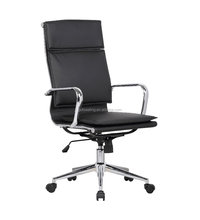 Steel tubular frame high back home office manager chair with cushions