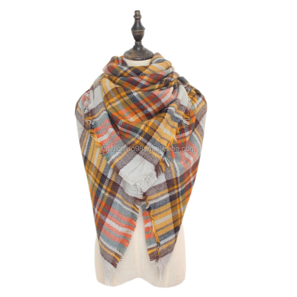 2016 Brand Scarf Women Fashion Scarves Top quality Kid Blankets Soft Cashmere Winter Scarf warm Square Plaid Shawl