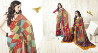 Beautiful colour printed sarees