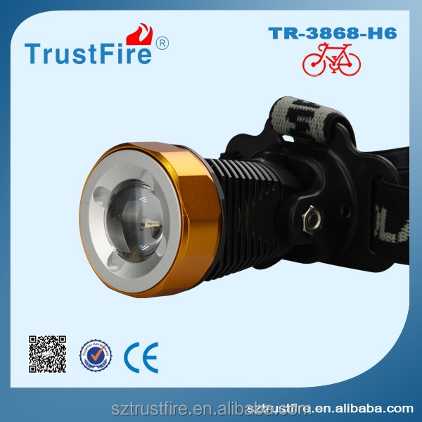 China TrustFire 3868-<strong>H6</strong> sharpy beam moving head light,bike light, bike bicycle head light/ hot sale battery pack head