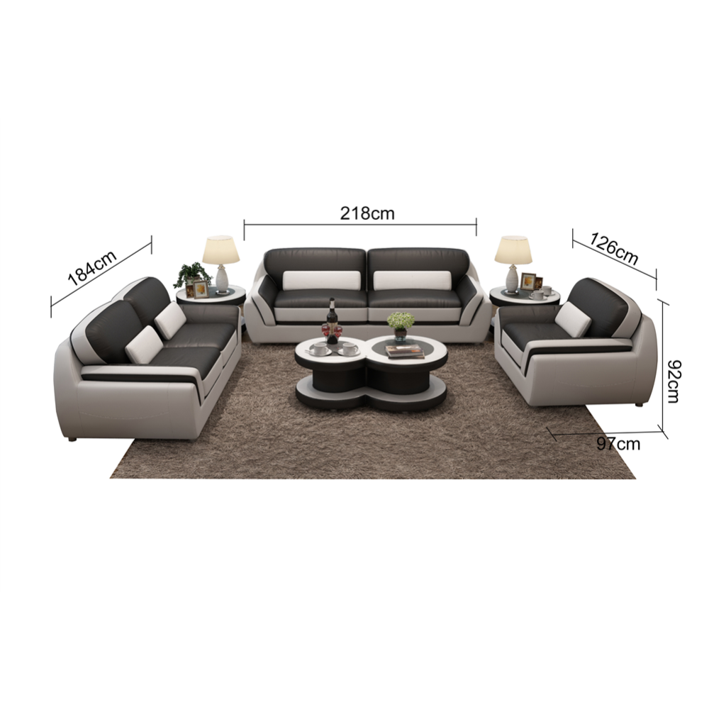 Custom modern living room genuine leather european style <strong>sofa</strong>