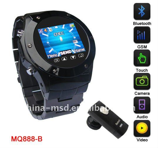high-quality GSM Multimedia cell Phone watch